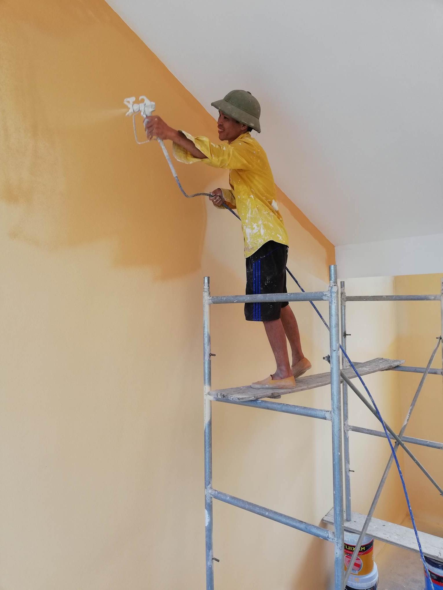 Thuê thợ sơn nhà làm nhân công tại hà nội