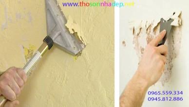 sơn lại nhà có cần cạo sơn cũ không