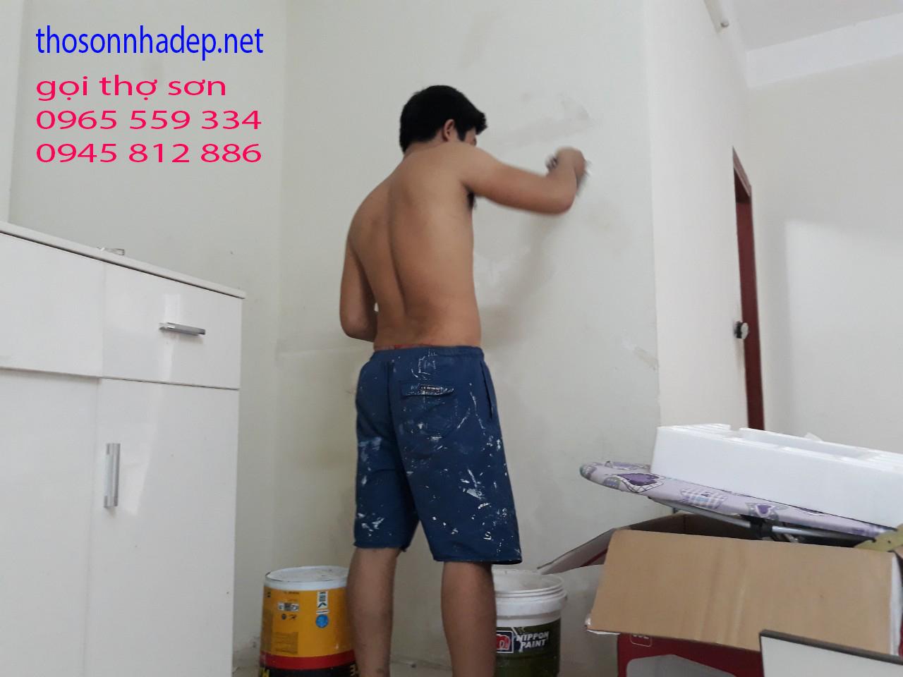 thi công sơn nhà chung cư cũ