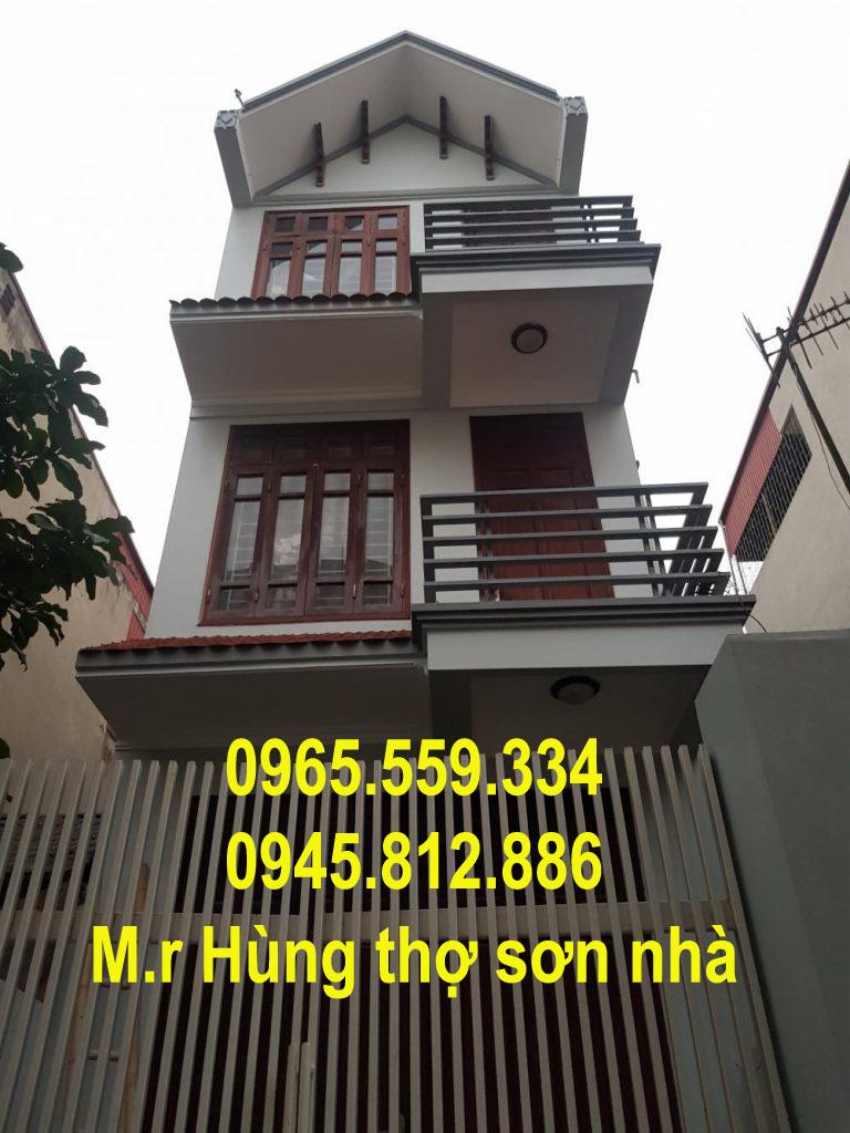 Sơn nhà 3 tầng sàn 40 m2 hết bao nhiêu tiền?