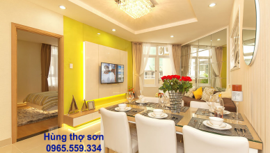 Sơn nhà chung cư 54 m2 hết bao nhiêu tiền?