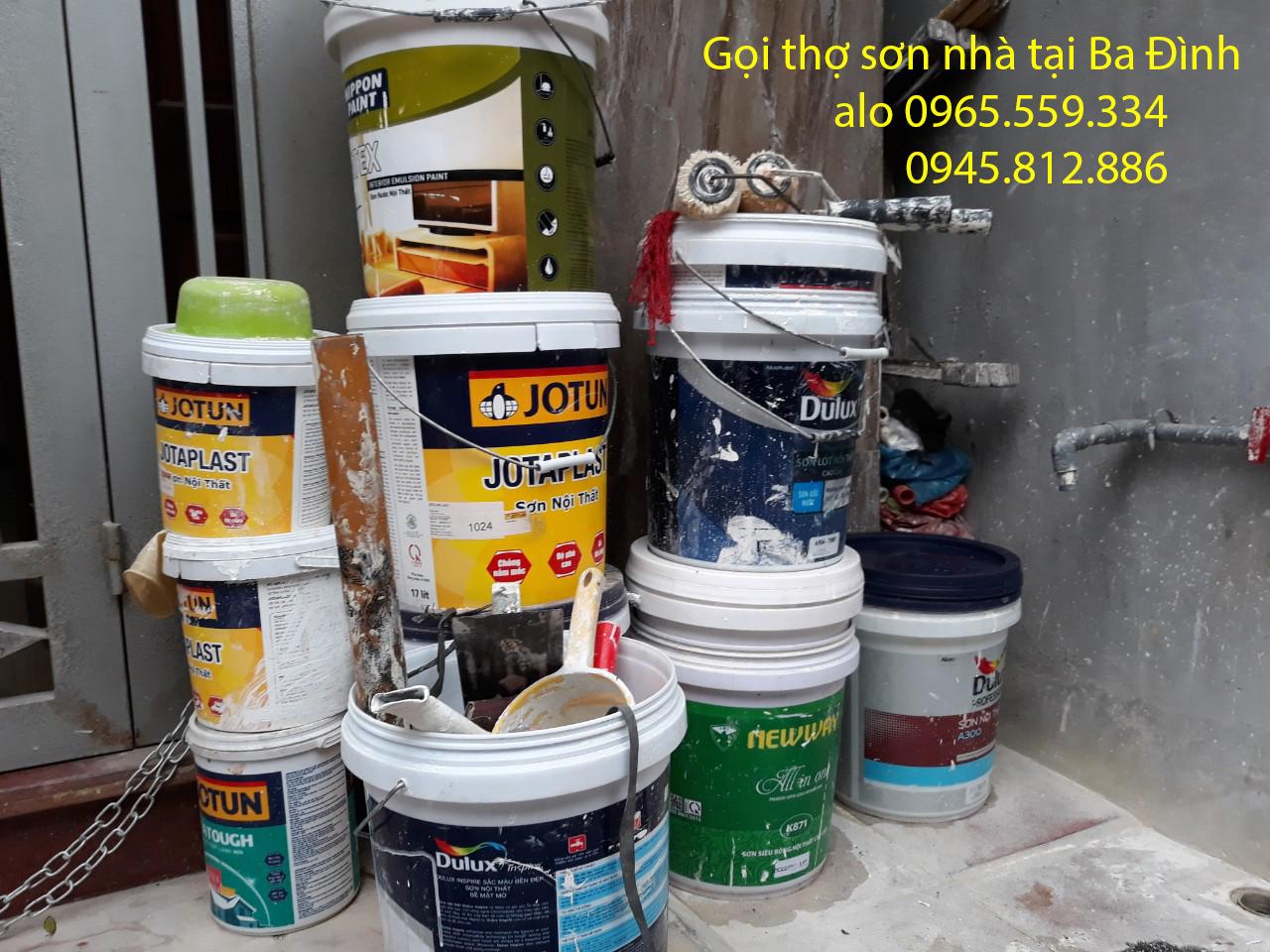 thợ sơn nhà tại Ba Đình