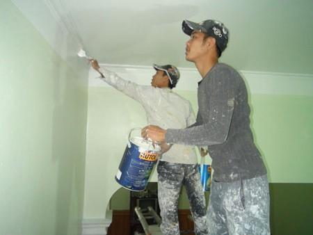 Thợ sơn nhà Ninh Bình