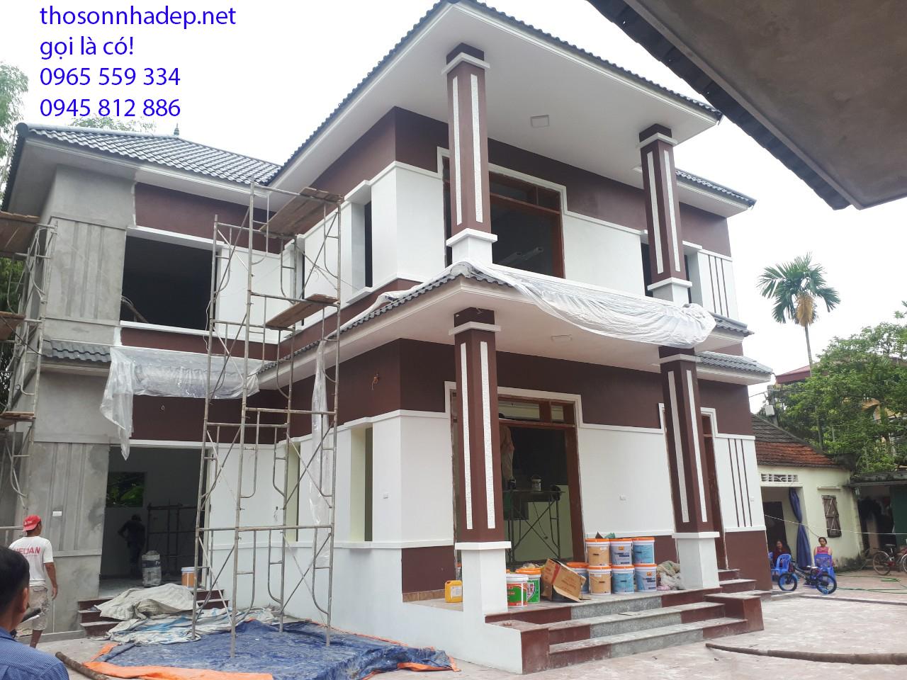thợ sơn nhà làm nét nèn nẹt