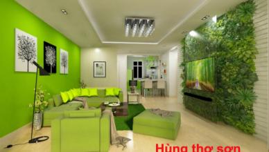 Sơn nhà màu xanh lá cây yêu thích nhất 2021